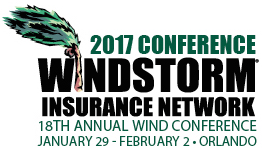 2017 Conference Windstorm Insurance Network - 18th Annual Wind Conference January 29 - February 2 - Orlando